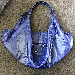 Nike Victory Tote Blue Carry All Gym Bag Geometric
